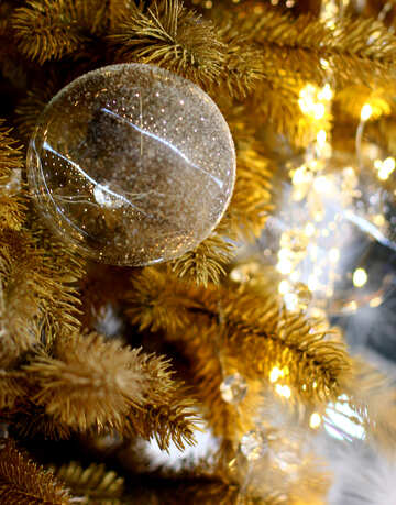 Glass balls on Christmas tree №47735