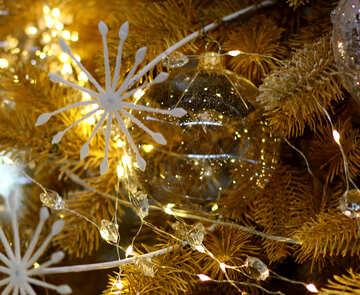 Glass balls on Christmas tree №47740