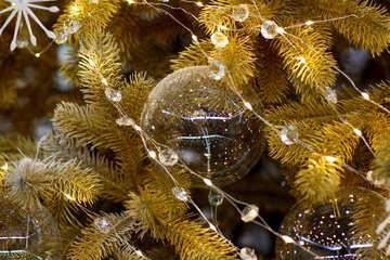 Glass balls on Christmas tree №47741