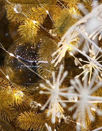 Glaskugeln auf Weihnachtsbaum №47742