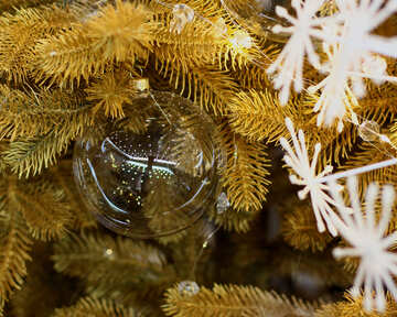 Glass balls on Christmas tree №47746