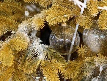 Glass balls on Christmas tree №47747