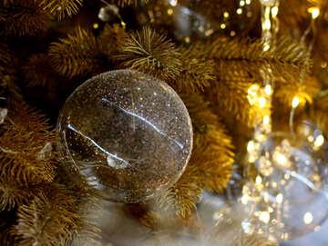 Glaskugeln auf Weihnachtsbaum №47736