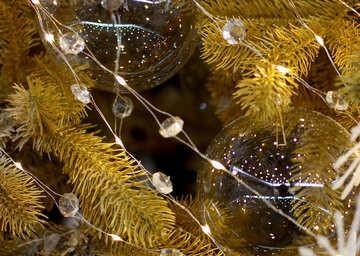 Glass balls on Christmas tree №47743