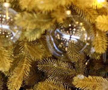 Glass balls on Christmas tree №47745