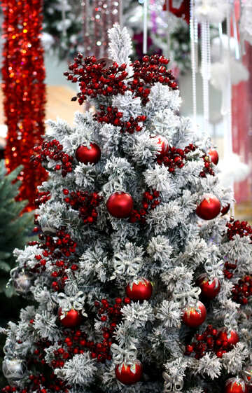 Weihnachtsbaum mit Kugeln №47852