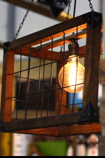 Gabbia lampada d`epoca №47070