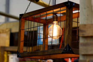 Vintage lamp cage №47071