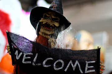 Invitation for Halloween with a witch №47256