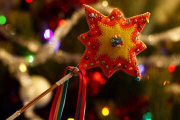 Рождественская звезда ручная работа украшение №47946