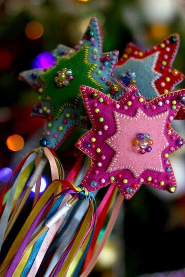 Рождественская звезда ручная работа украшение №47954