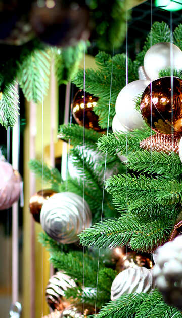 New Year`s interior decoration in the store №47592