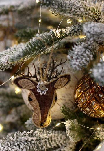 Reindeer on a Christmas tree №47692