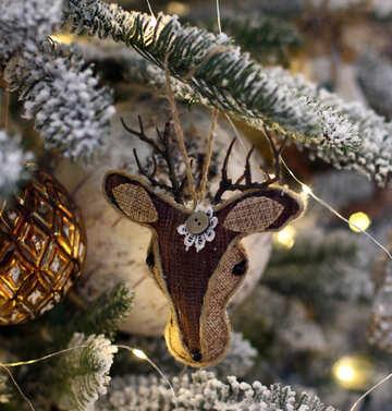 Reindeer on a Christmas tree №47693