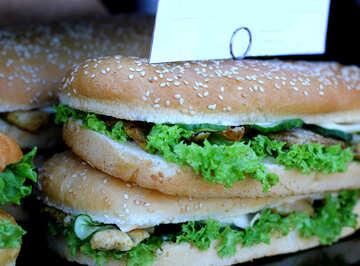 Sandwich sandwich with salad №47430