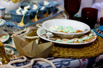 Table setting in maritime style №47153
