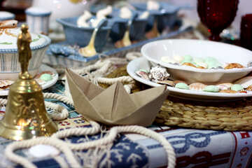 Table setting in maritime style №47155