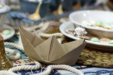 Table setting in maritime style №47156