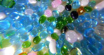 Multi-color perle di vetro №47987