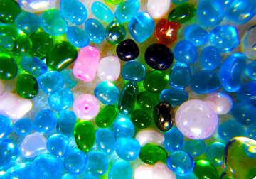Multi-color perle di vetro №47989