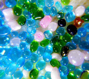 Multi-color perle di vetro №47990