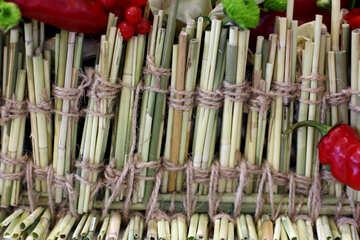 Weaving dried herbs №47010