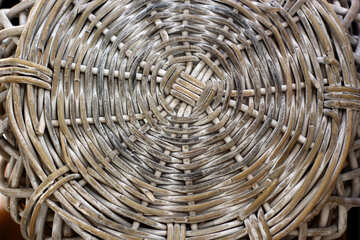 Texture of the bottom of a wicker basket №47054