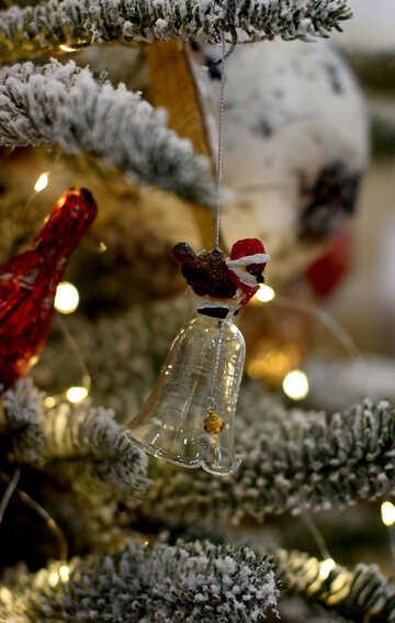 Beautiful Christmas tree toy ball №47691