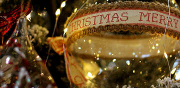 Beautiful Christmas tree toy ball №47694