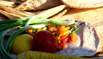 Vegetables on pita №47491
