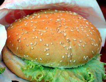 Burger with salad №47417