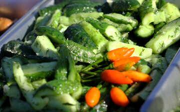 Pickled cucumber salad №47488