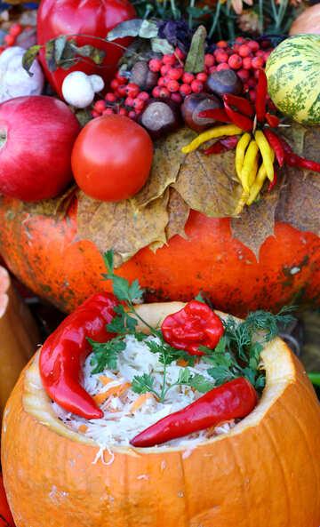 Sauerkraut and autumn still life №47477