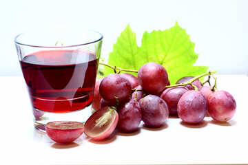 House red wine isolated on a white background №47281