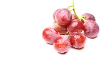 Розовый виноград изолированно на белом фоне №47266