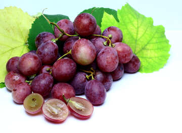 Pink grape isolated on white background №47288
