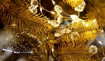Christmas garland of lights reflection №47759