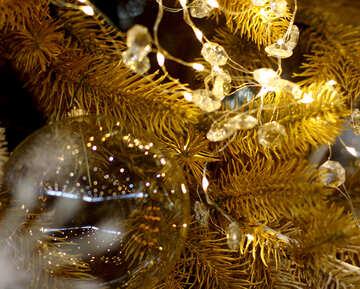 Christmas garland of lights reflection №47760