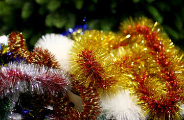 Colored background Christmas garland №47932