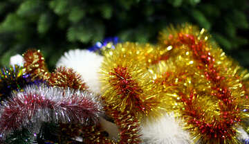 Colored background Christmas garland №47933
