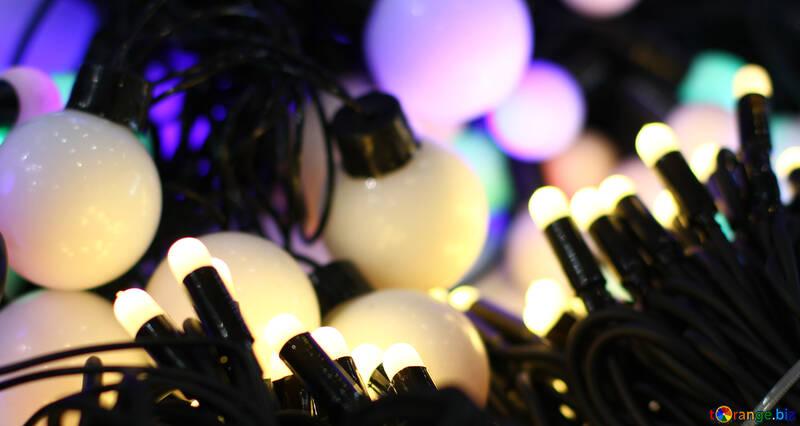 Christmas background background colored lights garlands №47889