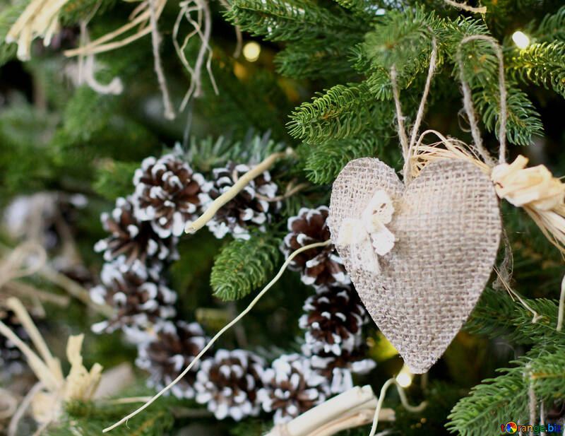 Christmas toy heart №47822