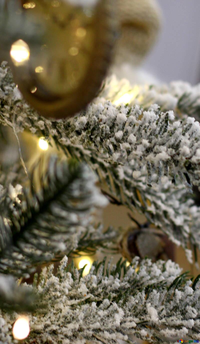 Christmas toys vintage watch on a Christmas tree №47798