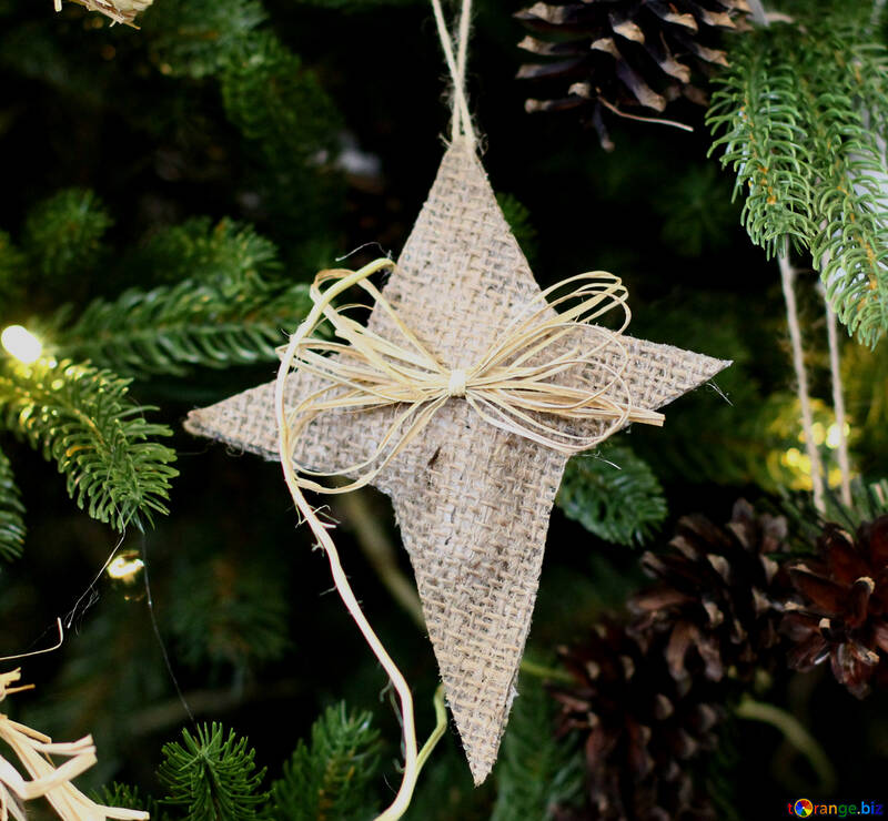 Christmas toy of threads Star №47823