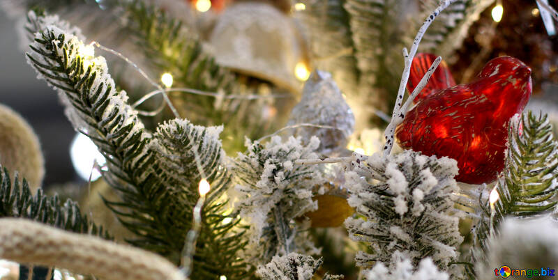 Christmas toy made of glass bird №47790