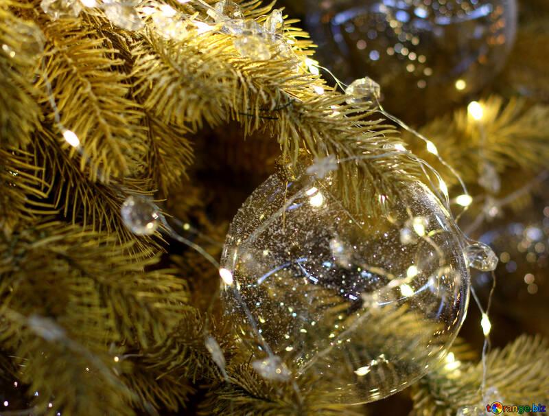 Lumières de Noël sur un arbre de Noël №47755
