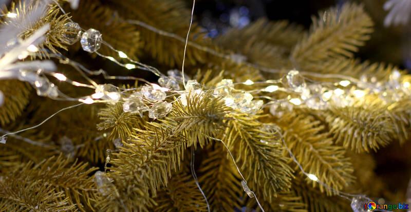 Christmas lights on a Christmas tree №47754