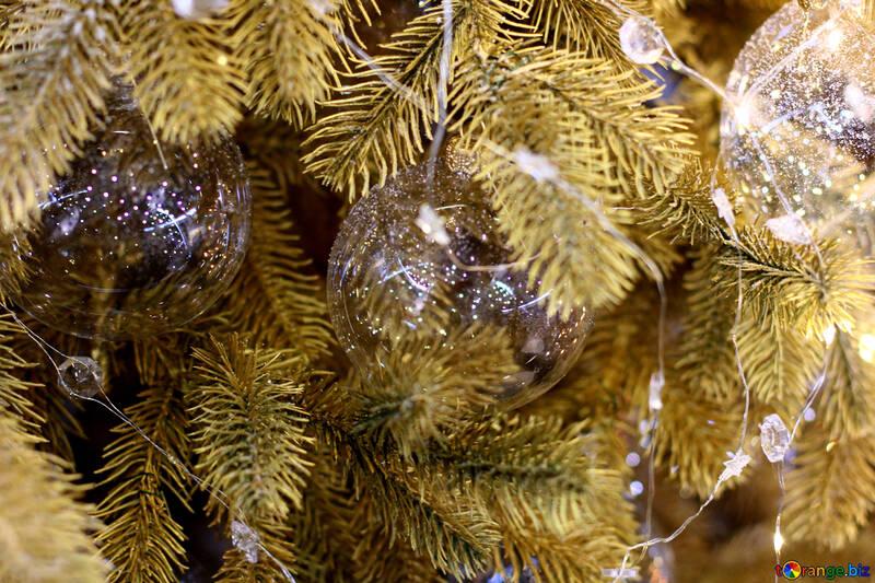 Christmas garland of lights reflection №47756
