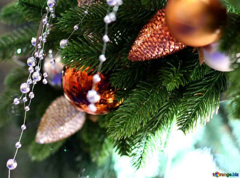 New Year`s interior decoration in the store №47601