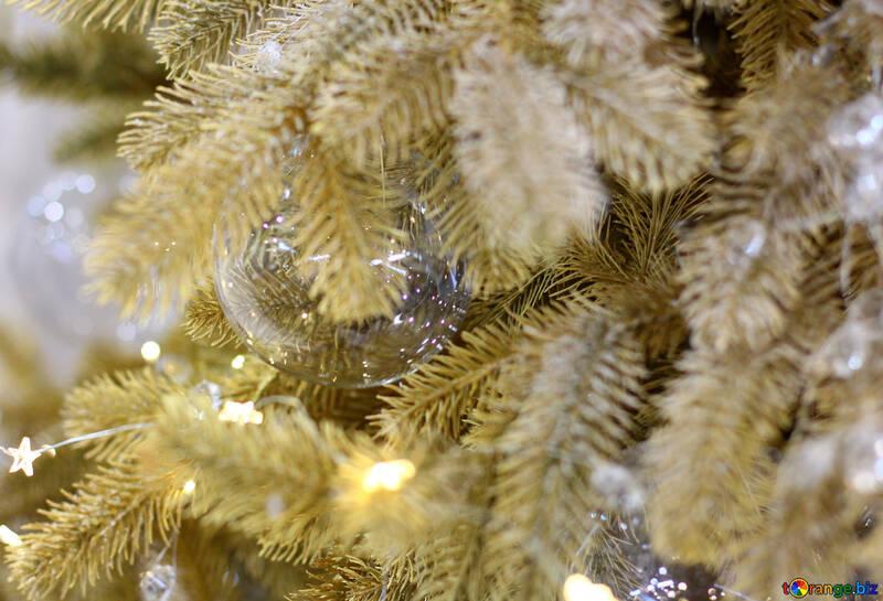 Garland of lights on the Christmas tree №47724